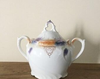 Vintage Porcelain Sugar Bowl