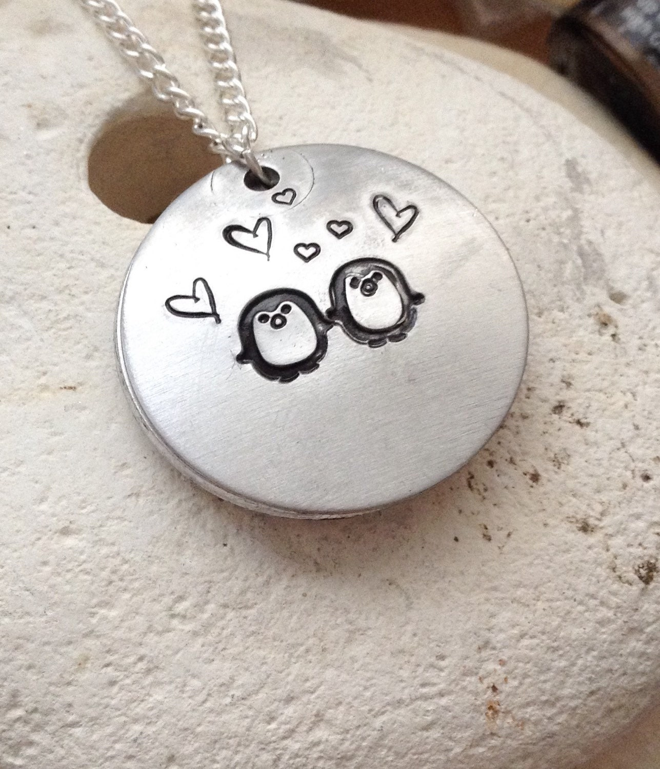 You are my penguin love locket. Open clamshell style necklace. Gifts for her - valentines gift, girlfriend gifts - cute necklace