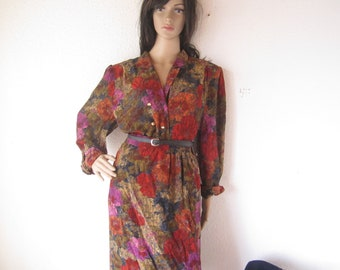 Vintage 80s Dress dress costume blouse & Rock M