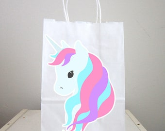 Unicorn Goody Bags, Unicorn Party Bags, Unicorn Favor Bags, Unicorn Party, Unicorn Birthday (414171046P)