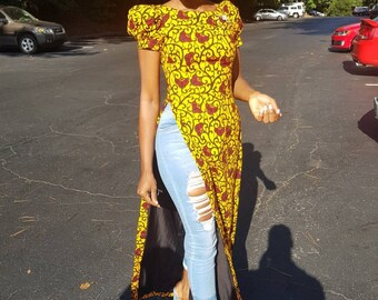 The Bayanda African print Ankara top
