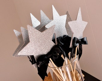 Graduation Centerpiece.  Handcrafted in 2-5 Business Days.  Graduation 2017 Party Ideas.  Star Wands 5CT.