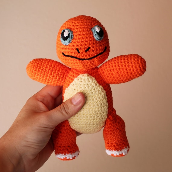 Charmander - Pokemon. Amigurumi Toy, Orange Dragon Toy, Geek Crochet, Cute Children Gift, DIY, Crochet Doll, Made to Order, Art Crafts