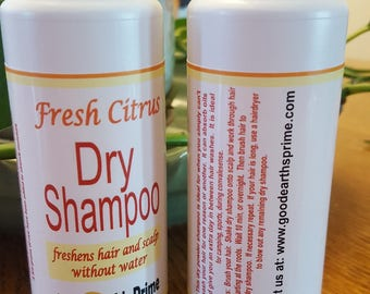 Fresh Citrus Dry Shampoo freshens hair & scalp without water | dry shampoo for the days when washing is not a possibility | camping sports
