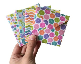 Set of 4 // Mini Square Envelopes // Under The Sea Stationery // Under The Sea Envelope // Mini Envelopes / Square Envelopes // Bright Cards