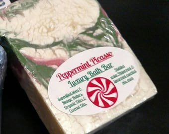 Peppermint Picasso/ Handmade cold processed all natural soap