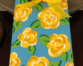 Clipboard, Hand painted, Lilly Pulitzer inspired, teacher clipboard