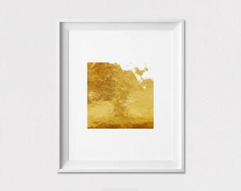Minimalist wall art, print, Minimal poster, Geometric print, faux gold print, square art print, wall decor, home decor, ArtFilesVicky