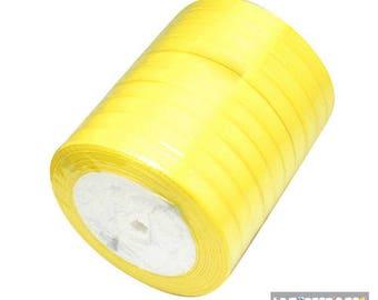 22 m yellow 6 mm satin ribbon