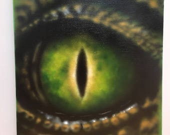 The croc's eye.