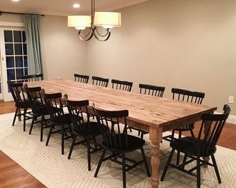 Barn wood table etsy for Extra long farmhouse table