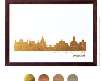 Dresden Art Print, Dresden Artwork, Dresden Decor, Dresden Poster, Dresden Wall Art, Dresden Skyline, Dresden Gift, Wedding Gift,
