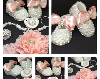 Baby shoes nipples pacifier headband set