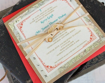Travel Wedding Invitation (St. Joseph, MI) - Design Fee