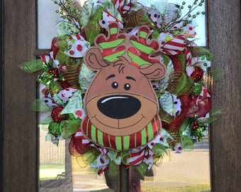 Reindeer Christmas wreath