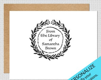 Book Stamp, Book Stamper, Library Stamp, Personalized Book Stamp, Custom Book Stamp, From The Library Of, Ex Libris Stamp, Archive Stamp