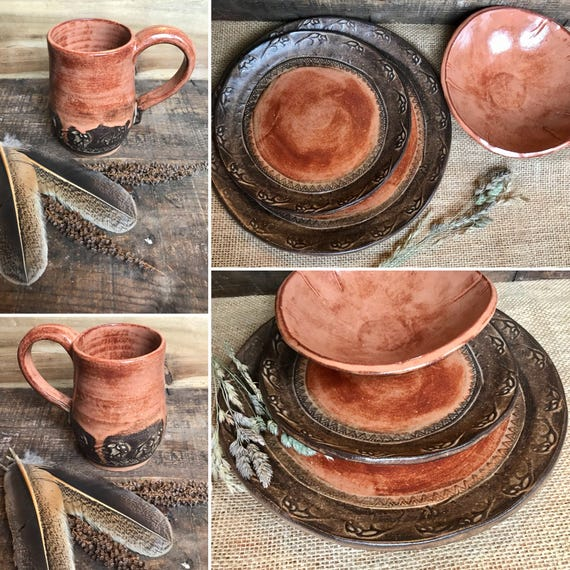 Wild Buffalo Dinnerware Set Including Mug Native American