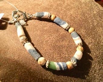 Rainbow Tube Bead Bracelet