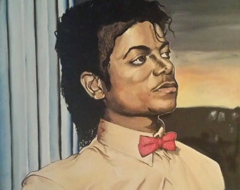 "Original OIL PAINTING ""Remember Michael"" Oil on canvas 18x24"""