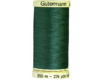 Spool of thread to sew collar 223, 250 m dark blue green Gutermann