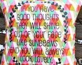 "Pillow 14"" : ""Good thoughts"" on bright F..."