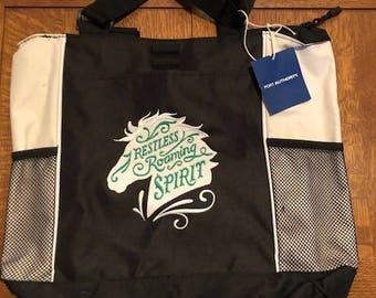 Restless Roaming Spirit Horse Theme Tote Bag- EMBROIDERED