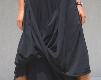 Loose black dress, black dress, asymmetric dress, Oversized Dress, long tunic top, maxi dress, kaftan, plus size kaftan, maxi black dress