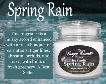 Spring Rain Scented Soy Jar Candle (16 oz.)