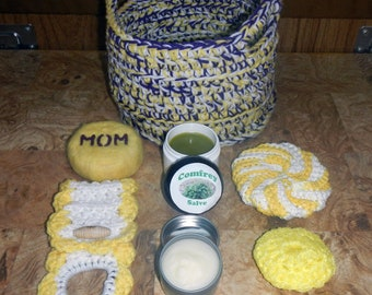 Crocheted Storage/Gift Basket - Loaded