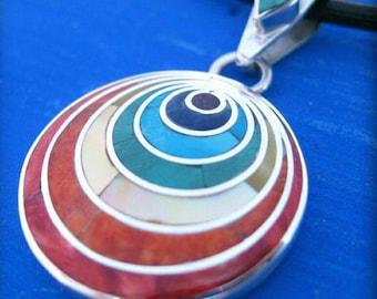 pachamama pendant necklace peruvian jewelry inti sun silver peru inca jewelry chakra pendant spiritual necklace esotheric jewelry mystical
