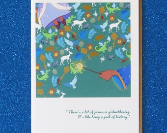 """FAIRY GODMOTHER """"it's possible"""" {your own personal fairy godmother} blank greeting card fairy godmother stationary faerie tale feet princess"""