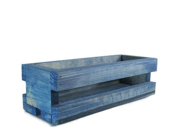 Blue Crate - Home, Garden or Wedding Decor - Centerpiece or Planter - Blue Wedding Decorations - Centerpiece crates