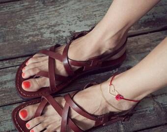 strappy sandals, greek sandals for women brown leather sandals flip flops sandals, gladiator sandals, summer flat sandals, flat summer shoes