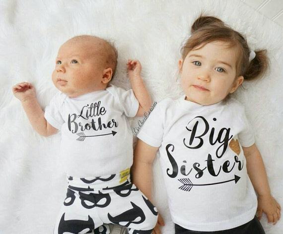 Big Sis Little Sis Matching Sibling Shirts Set Big Sister