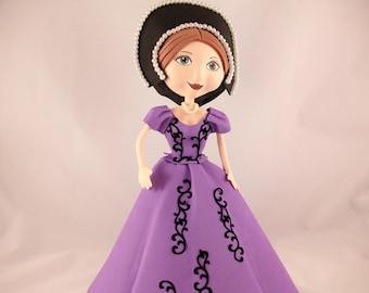 Collectible doll, doll handmade medieval Fofucha, gift idea for woman, birthday, Christmas, home decor