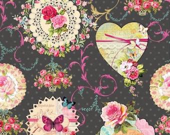 Fabric MIA - cloth style retro - vintage style fabric - romantic - shabby chic - 1/2 meter