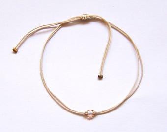 Tiny in 18k gold minimalist bracelet women's