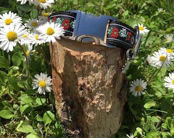 Hundehalsband Bayerische Blumen