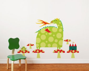Country Dragon - Wall Decal - Color Print