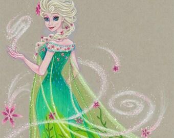Frozen Fever Elsa Giclee