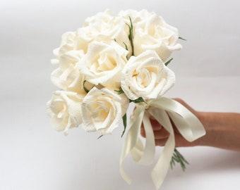 Bridesmaid bouquet, bridesmaids flowers, paper flowers, wedding flowers, flower bouquet, paper flower bouquet, bouquet bridal