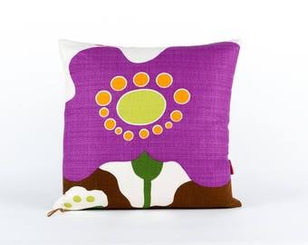 Modern Pillow Cover 18x18, throw pillow, large couch pillow, designer pillow, purple pillow cover, mid century cushion, handmade by EllaOsix