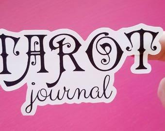 Tarot Journal cover sticker