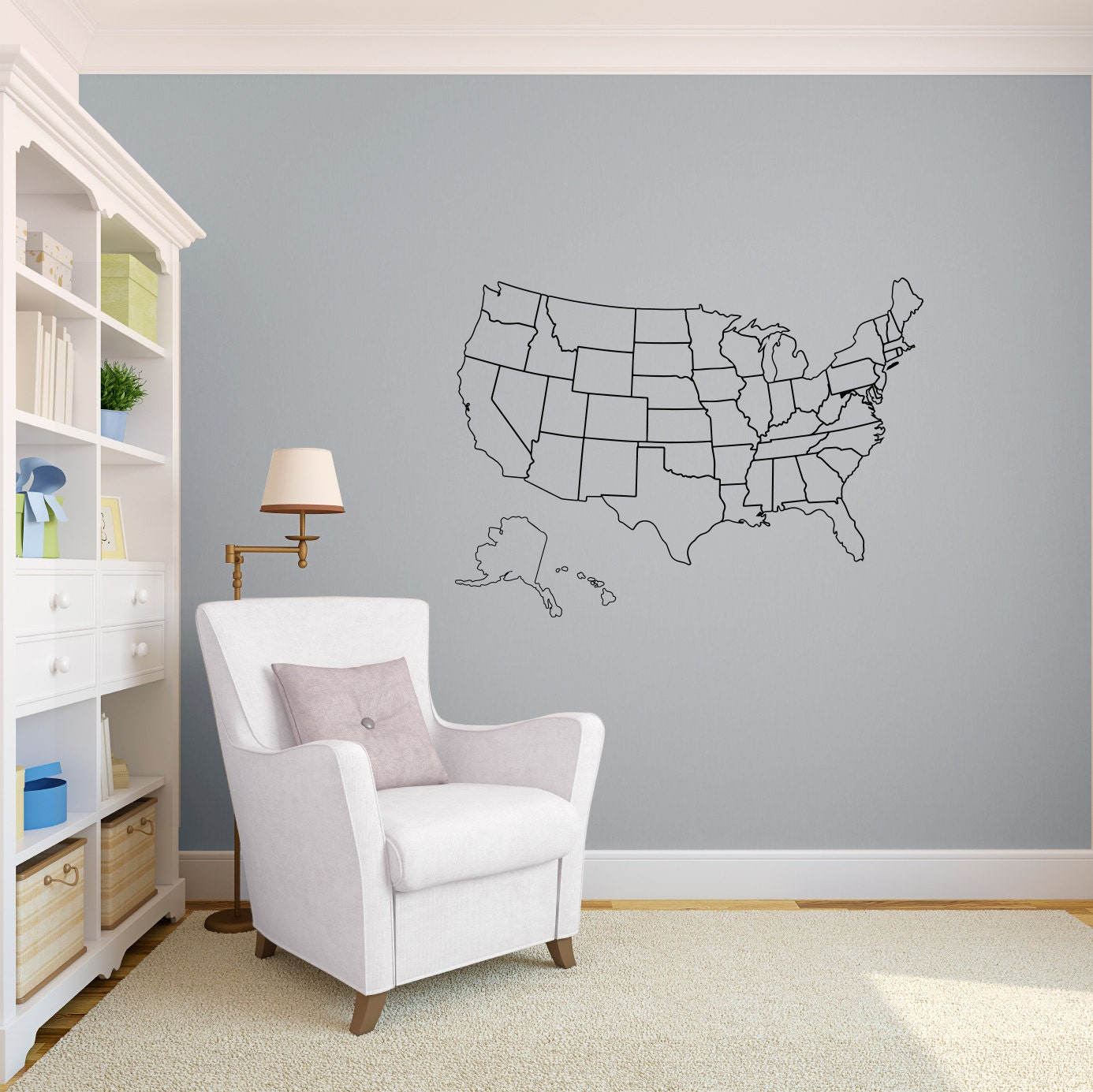 Description Our outlined United States Map