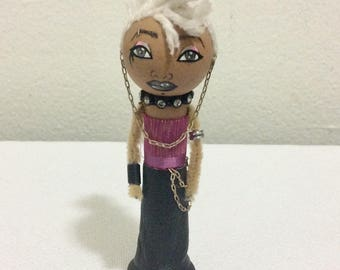 The Goth Collection: Gwen handmade clothespin doll