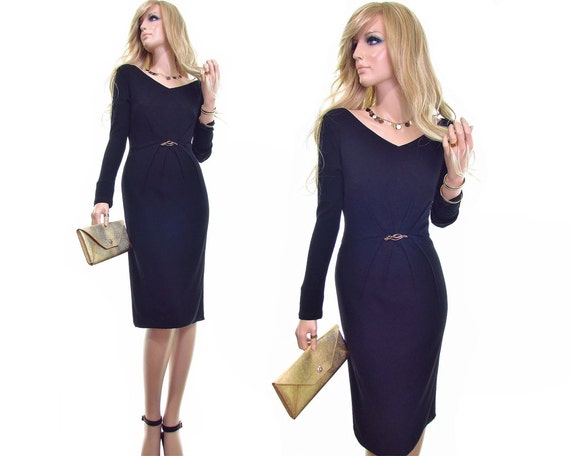 dress m designer dress v knit minimalist clothing dress european jersey CAVALLi little dress ROBERTO dress lbd bodycon 42 vintage neck black YqCxZEwH