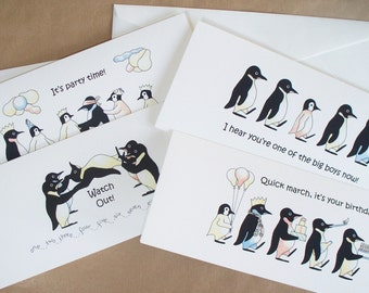 Penguin Birthday Cards