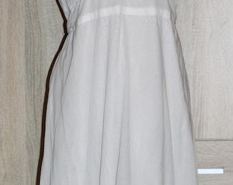 Vintage White Lace Cotton Dress Spaghetti Straps Size M