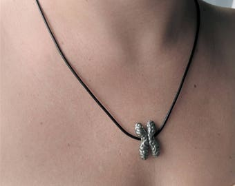 Chromosome Necklace - Chromosome Pendant, Genetics Jewelry, DNA, Microbiology Necklace, Cell Biology
