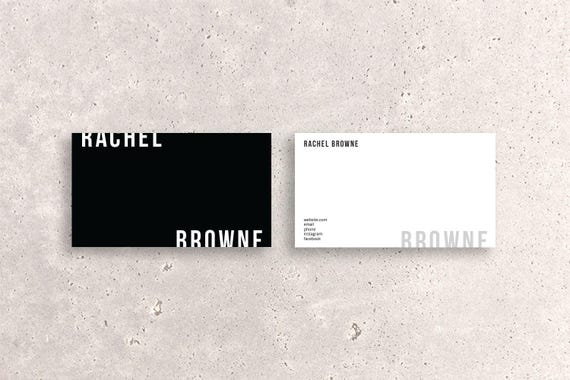 Modern double sided business card template two tone like this item flashek Gallery
